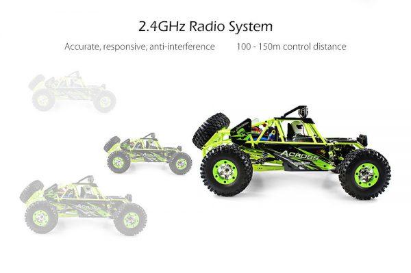 AUTO RC 4WD OFF-ROAD WLtoys 12428 ACROSS RTR 1/12 Alta velocità 40Km/h