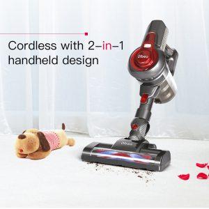 SCOPA ROTANTE ASPIRAPOLVERE DIGITALE SENZA FILI 22.2v DIBEA C17 Wireless Vacuum Cleaner