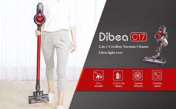 SCOPA ELETTRICA ASPIRAPOLVERE DIGITALE SENZA FILI 22.2v DIBEA C17 Wireless Vacuum Cleaner