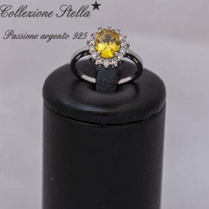 Collezione Stella Passione argento 925 Anello Argento con Pietra naturale di Quarzo citrino
