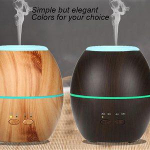 Umidificatore diffusore aroma effetto legno