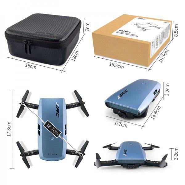 DRONE TASCABILE VIDEO CAMERA VISIONE IN DIRETTA RTF + CUSTODIA 2.4Ghz JJRC H47+ spedizione da italia