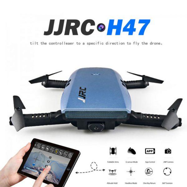 JJRC H47 SELFIE DRONE TASCABILE RTF WI-FI FPV VISIONE DIRETTA ELFIE+ AZZURRO
