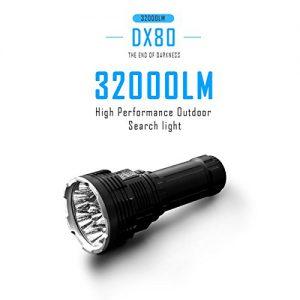 IMALENT DX80 Torcia Led 32000 Lumen IMALENT DX80 XHP70 da Italia