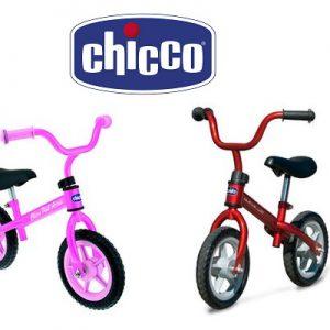 prima bicicletta Chiccho First Bike Bici senza pedali per bambini rosa / rosso 2 anni+