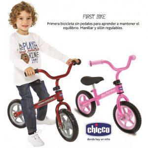 Chiccho First Bike Bici senza pedali per bambini rosa / rosso 2 anni+