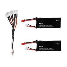 2 pezzi batterie + cavo multi per Hubsan X4 H502S - H502E batterie originali Hubsan H502