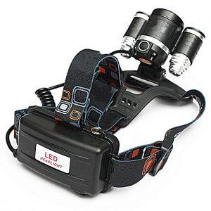 Torcia frontale 3 LED e luce di posizione posteriore