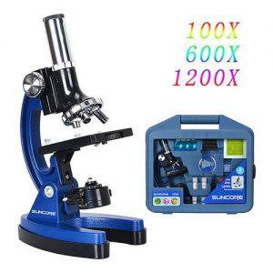 Microscopio Suncore 1200 Facile da usare, è perfetto per coltivare gli interessi dei bambini verso la scienza.