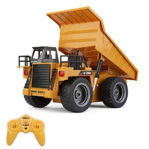 Realistico camion RC con cassone ribaltabile radiocomandato Scala 1/18 huina 1540