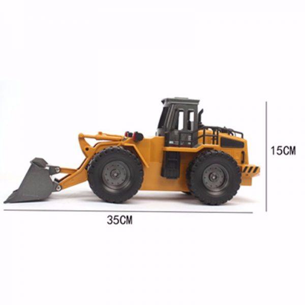 Ruspa / bulldozer RC dotata di cestello completamente ribaltabile, movimentazione pari alla versione reale. RUSPA RADIOCOMANDATA 6ch 1:18 2,4Ghz RC Huina 1520