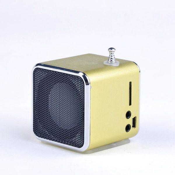 Radio FM tascabile Lettore USB-Micro SD / colore Giallo Oro