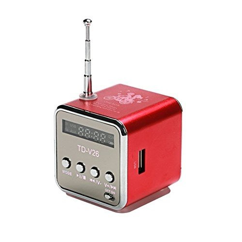 Radio FM tascabile Lettore USB-Micro SD / colore ROSSO