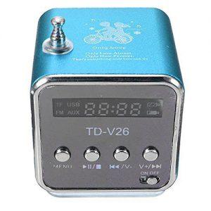 TD-V26 celeste Radio FM tascabile Lettore USB-Micro SD / colore azzurro