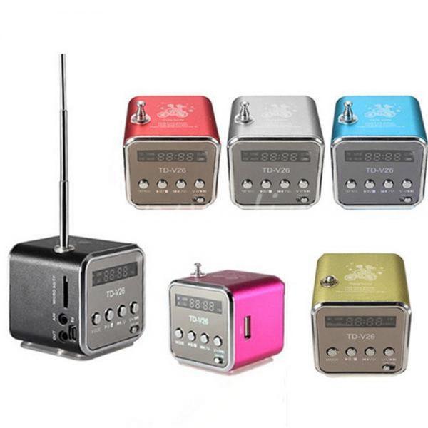 TD-V26 da Italia Mini Radio FM Lettore USB-Micro SD/TF card Tascabile