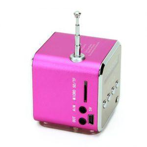 Radio FM, Lettore Memory stick USB, Micro SD / TF card, Altoparlante tascabile Aux-In, Batteria integrata ricaricabile. Il tutto racchiuso in simpatico un Cubo da 5 cm.