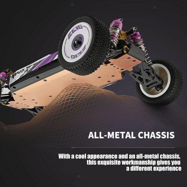 WLtoys 124019 Consegna Rapida gratuita da ITALIA. Auto Buggy RC off-road fondo in lega di alluminio telaio in metallo