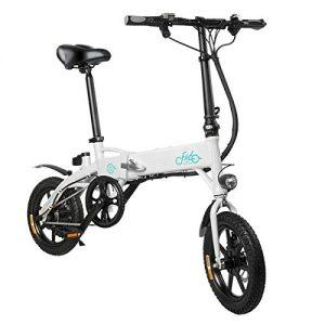Bicicletta elettrica pieghevole ammortizzata, ruote da 16 pollici, Motore da 250W, Cambio Shimano a 6 velocità e Doppio freno a disco. FIIDO D2S 7.8Ah